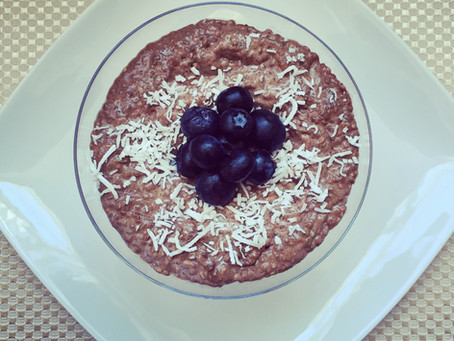 Carob-Coconut Chia Seed Pudding