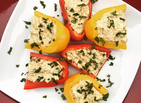 Stuffed Peppers with Garlic Cashew Spread
