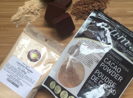 Cacao-Lucuma, Raw, Vegan Chocolate