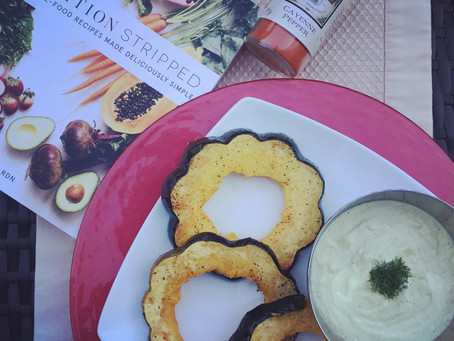 Acorn Squash Rounds with Dill-Cashew Cream