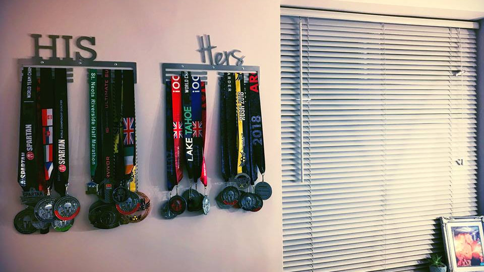 """""""His and Hers"""" medal hanger set"""