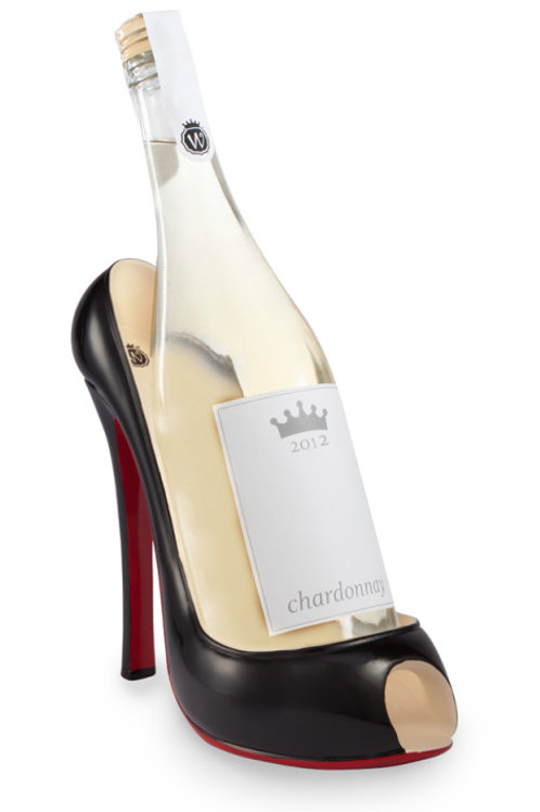 Black High Heel Wine Bottle Holder