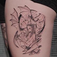 🔥🐉Darnerys Targaryen and her three dra