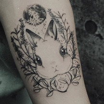 🌑If you want to get a rabbit tattoo, pl