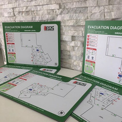Hot off the press!! This set of 'Evacuation Diagrams' is off to Bridge St Kids Early Learning Child