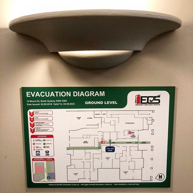 Our Evacuation Diagrams are lit