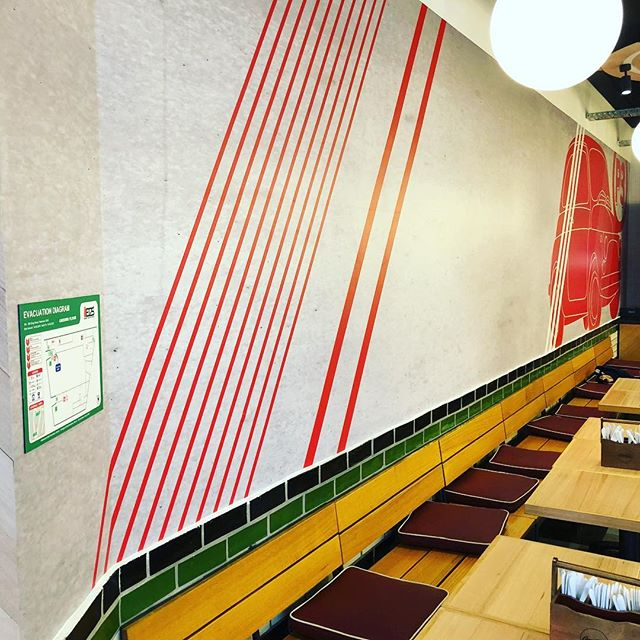 Nice feature wall in Pizza Pasta Please