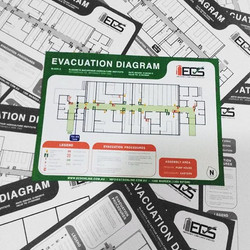 'Evacuation Diagrams' designed and produced to meet Australian Standard 3745-2010_ Planning for Emer