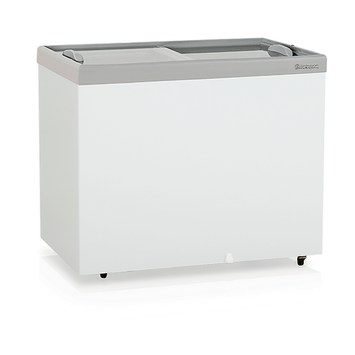 Conservador / Refrigerador Plano Vidro Reto Deslizante - Dupla Ação GHDE-310