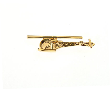Bell 47 Sioux Gold Plated Tie / Lapel Pin