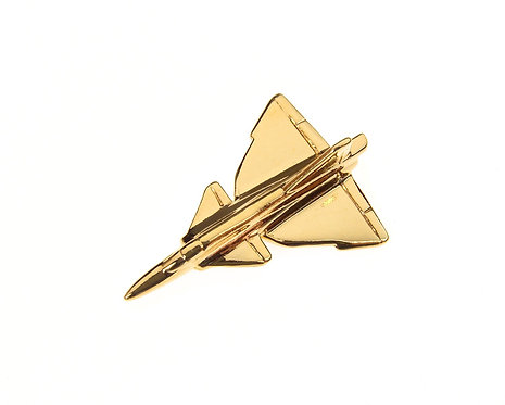 SAAB Viggen Gold Plated Tie / Lapel Pin