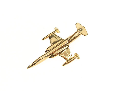 F104 Starfighter Gold Plated Tie / Lapel Pin