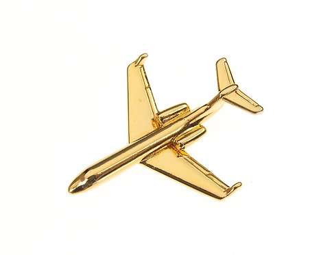 Gulfstream IV Gold Plated Tie / Lapel Pin