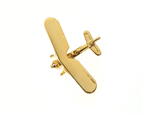 Morane 230 Gold Plated Tie / Lapel Pin