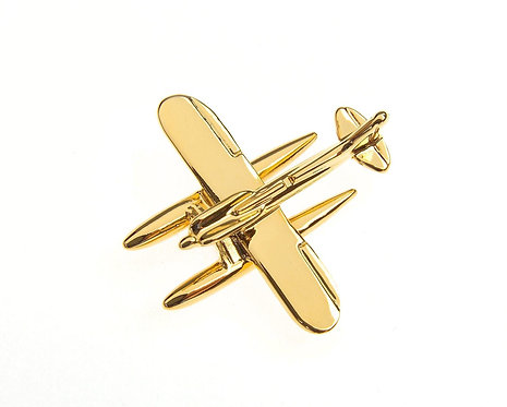 Supermarine Spitfire S6B Gold Plated Tie / Lapel Pin