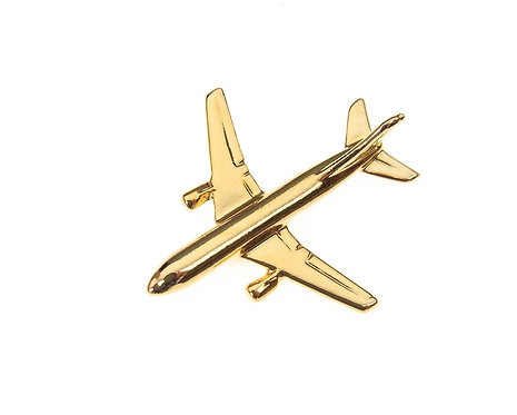 Airbus A300 Gold Plated Tie / Lapel Pin