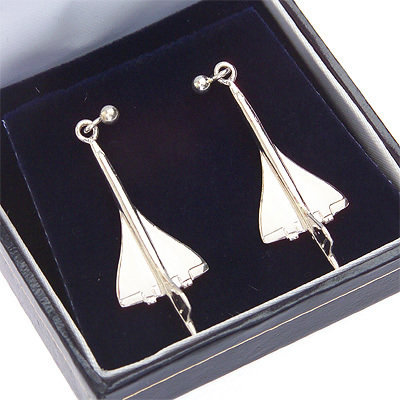 Concorde Earrings Solid Silver
