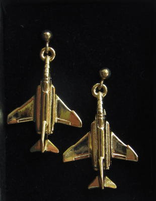 F4 Phantom II Earrings Gold Plated