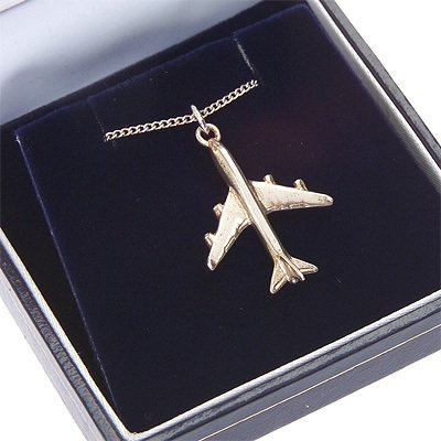 Boeing 747-400 Pendant Solid Sterling Silver