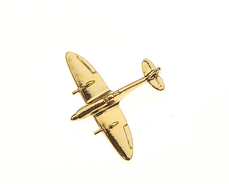 Spitfire Gold Plated Tie / Lapel Pin