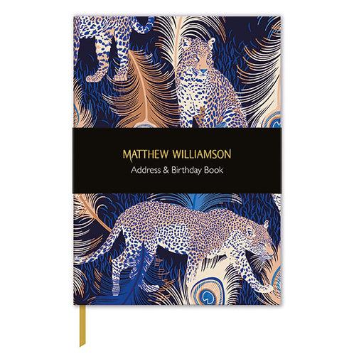 Address &  Birthday Book : Matthew Williamson Leopards