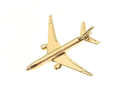 Boeing 777 Gold Plated Tie / Lapel Pin