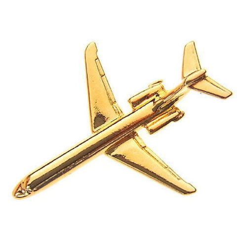 MD-80 Gold Plated Tie / Lapel Pin-MD80