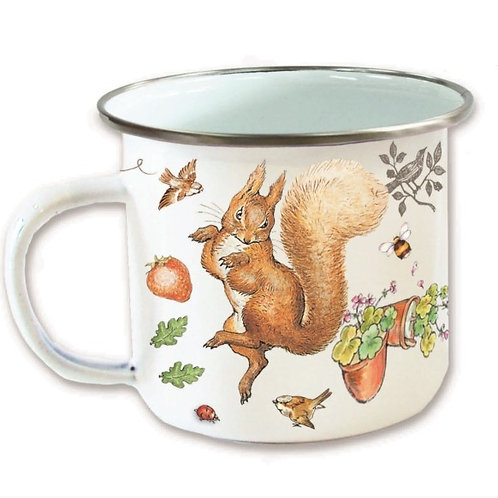 Enamel Mug Squirrel Nutkin