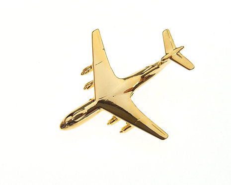 Starlifter C141 Gold Plated Tie / Lapel Pin