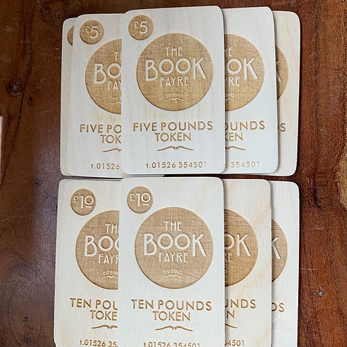 Wooden Book Fayre Card