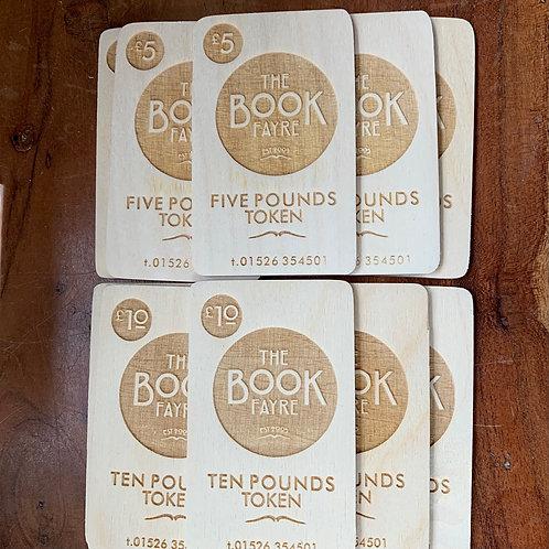 Wooden Book Fayre Token