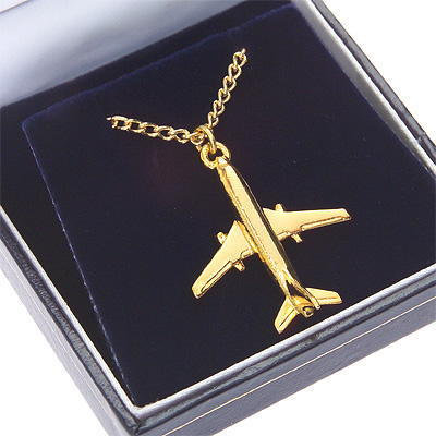 Boeing 737 Pendant Gold Plated