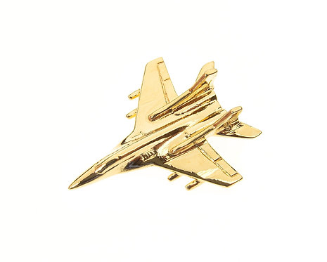 Mig 29 Fulcrum Gold Plated Tie / Lapel Pin
