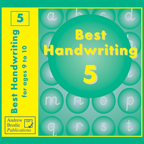Best Handwriting : Practice Book for Ages 9-10 Pupil Workbook Bk. 5