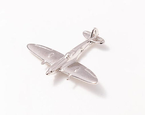 Spitfire Nickel Plated Tie / Lapel Pin