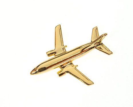 Boeing 737-400 Gold Plated Tie / Lapel Pin