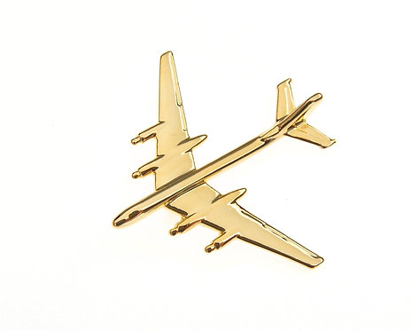 Tupolev Tu95 'Bear' Gold Plated Tie / Lapel Pin