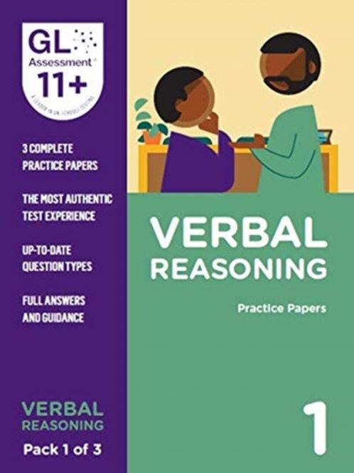 11+ Practice Papers Verbal Reasoning Pack 1 (Multiple Choice)