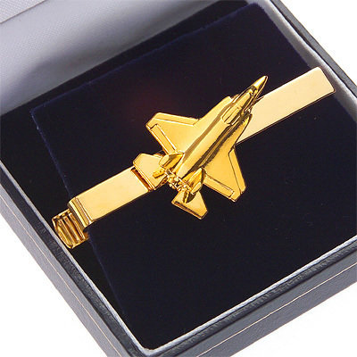 JSF Joint Strike Fighter Lightning II Tiebar / Clip Gold Plated