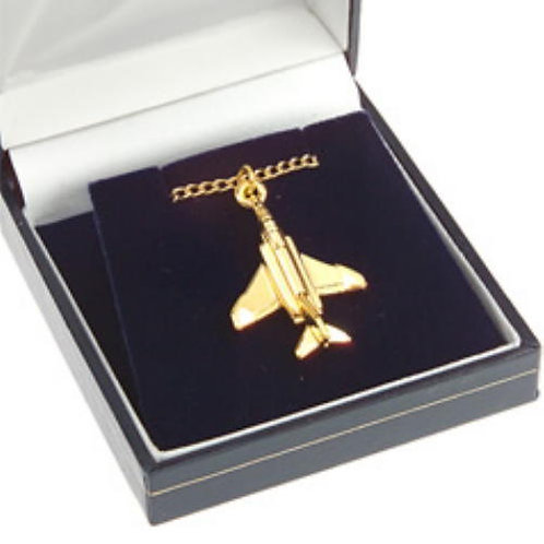 F4 Phantom II Pendant Gold Plated