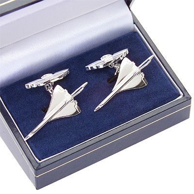 Concorde Cufflinks Solid Silver