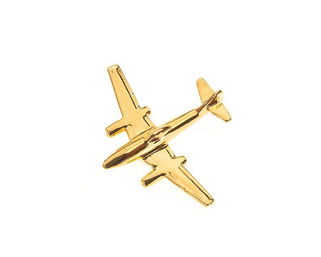 Messerschmitt Me262 Gold Plated Tie / Lapel Pin