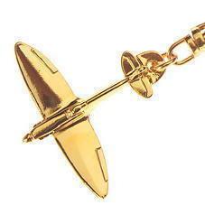 Gold Spitfire Keyring