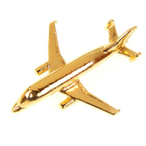 Airbus A300-600ST Beluga Gold Plated Tie / Lapel Pin