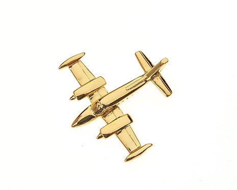 Cessna 340 Gold Plated Tie / Lapel Pin