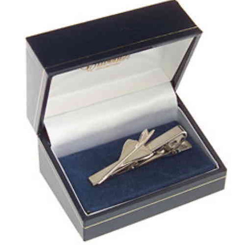 Concorde Tie Bar / Clip Nickel Plated
