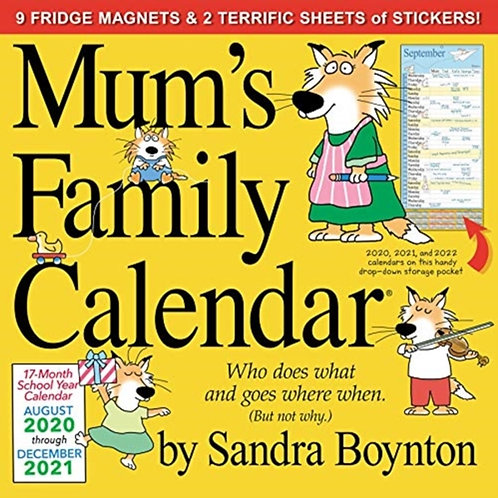 2021 Mum's Family Wall Calendar (UK Edition)