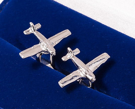 Piper Cherokee Cufflinks Nickel Plated
