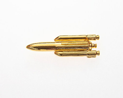 Ariane 5 Gold Plated Tie / Lapel Pin