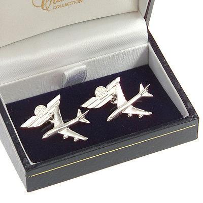 Boeing 747-400 Cufflinks Solid Silver